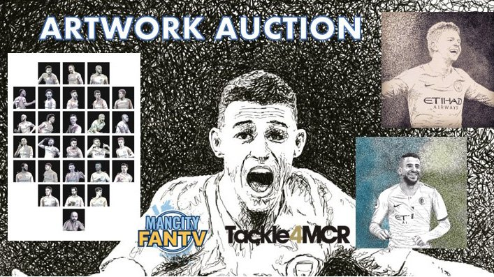 @tackle4mcr - ARTWORK AUCTION - 1 SIGNED ARTWORK BACK LIVE. Unfortunately, we've been trying to contact the bidder for the @PhilFoden artwork for the past day or two, but with no joy. Therefore, the signed Phil Foden artwork is back on the market for bids. Starting at £130.