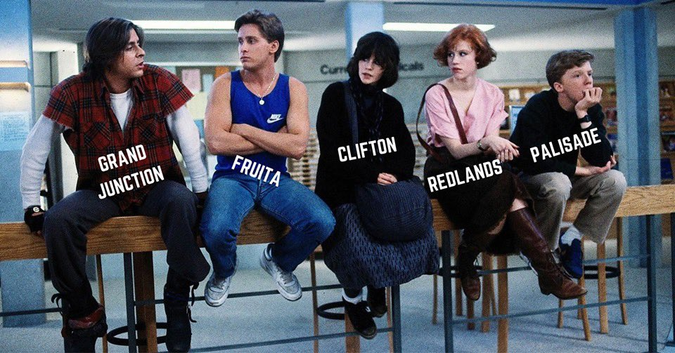 Grand valley as Breakfast club, this is too funny (stolen from @KEKBCountry)<br>http://pic.twitter.com/uzE6vX39GM
