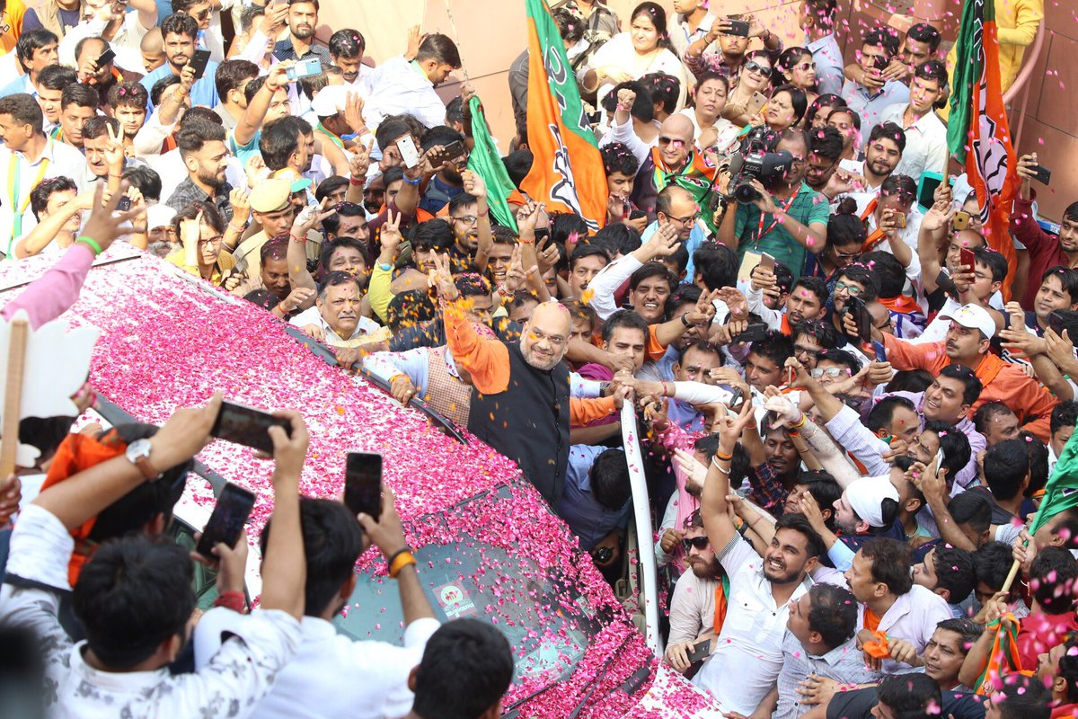The Architect behind the biggest electoral victories ever is @BJP4India President &amp; Modern day Chanakya @AmitShah Ji congratulations for tirelessly campaigning across India.   #VijayiBharat<br>http://pic.twitter.com/7Q3f9bd6VW