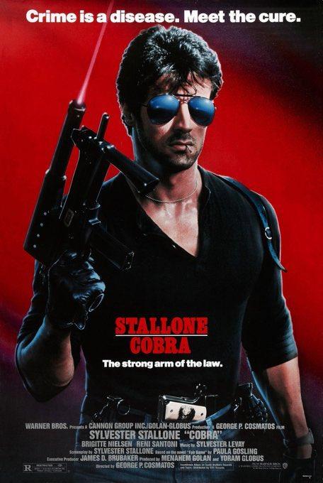 """Hoy hace 33 años que se estrenó en EEUU la película """"Cobra"""". No se podía ser más duro."""