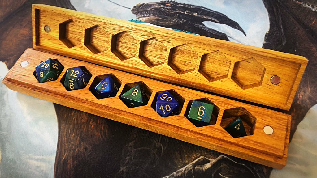 GIVEAWAY We reached 400 followers and we want celebrate by giving away one of our Dice Vaults                                  To Enter:                                                      Like Retweet &amp; Follow Winner to be drawn 5/28 #ttrpg #dnd #dungeonsanddragons<br>http://pic.twitter.com/wDP3ssQFQO