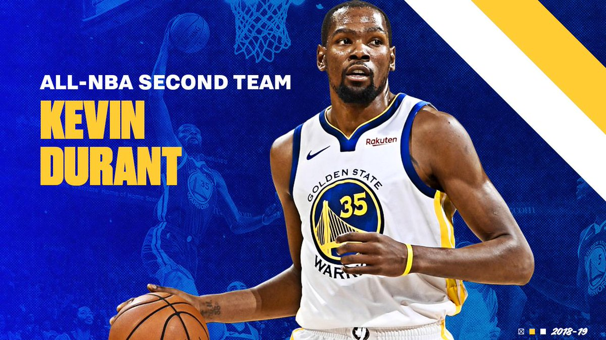 Kevin Durant has been selected to the 2018-19 All-NBA Second Team 👏