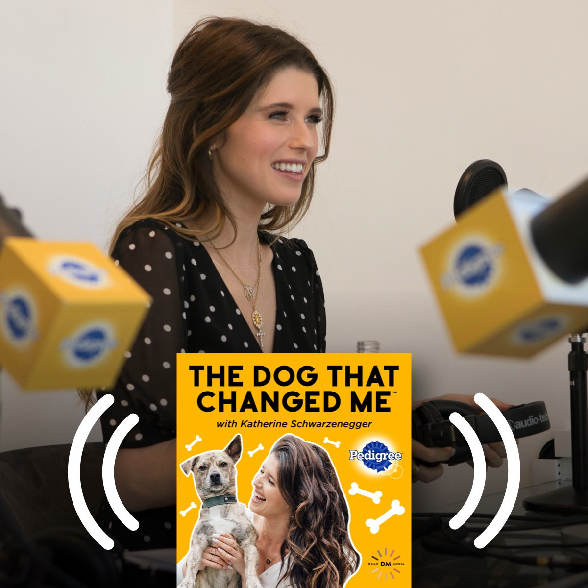 """Listen to stories from Julianne Hough, LeAnn Rimes & more about the life-changing power of adopting a pet in the new podcast, """"The Dog That Changed Me,"""" hosted by @KSchwarzenegger & sponsored by PEDIGREE. New episodes now available at https://t.co/G2N3Io0xiB. #EveryPupsSuperpower https://t.co/fPZGzbPkBI"""