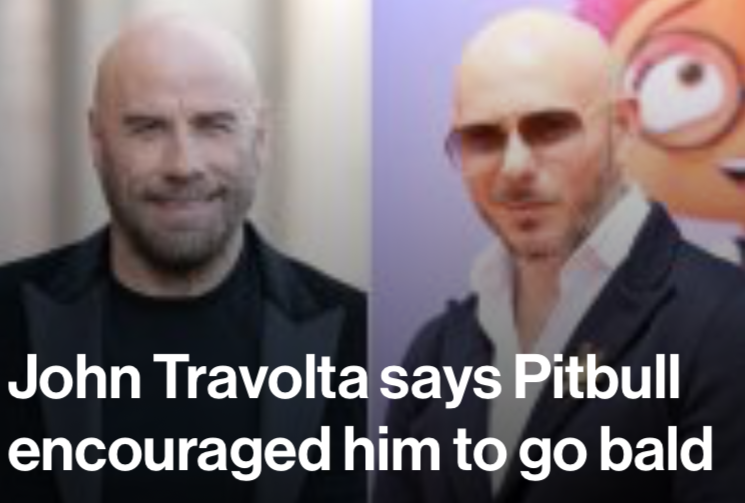 You heard it here first, folks: Pitbull appears to have access to some kind of baldness-inducing incantation <br>http://pic.twitter.com/XXb8xbLkmL