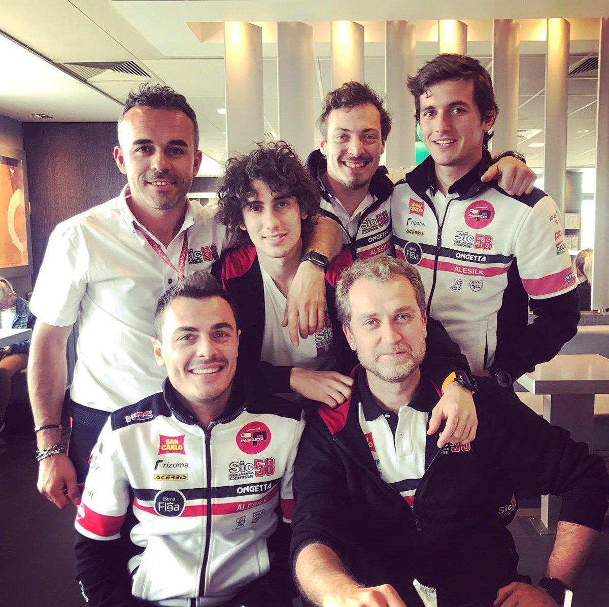 TOGETHER 💪🏻🔥❤️ @_Nicco23 #FrenchGP 🇫🇷 #LeMans #sic58squadracorse #TS24 #NA23 #Moto3 #MotoGP @Acerbisitalia #acerbis #acerbismotorsport #acerbisplastics #acerbisathlete #Sic58