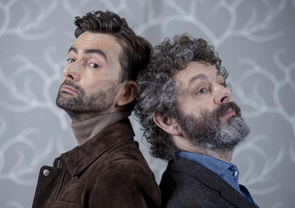 David Tennant and Michael Sheen for a Good Omens photoshoot - photo by Vicki Couchman