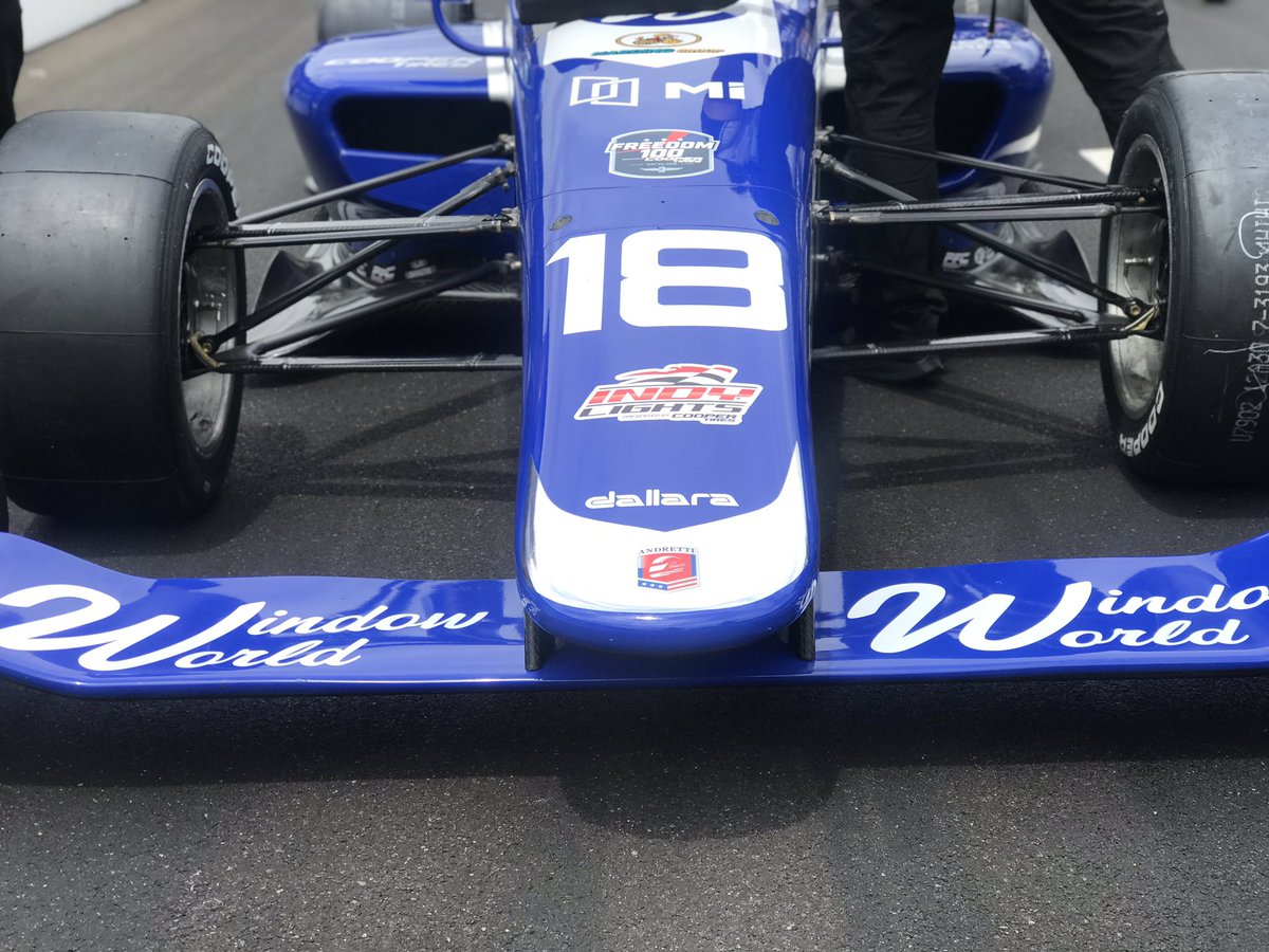 It's time for @IndyLights Qualifying for the #Freedom100! We will roll out in line 3rd, 6th, 9th, 10th. #AllAndretti #RoadToIndy #TeamCooperTire