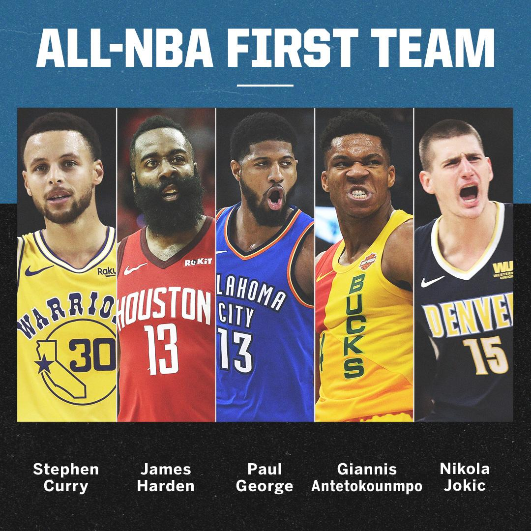 The All-NBA teams have been announced!