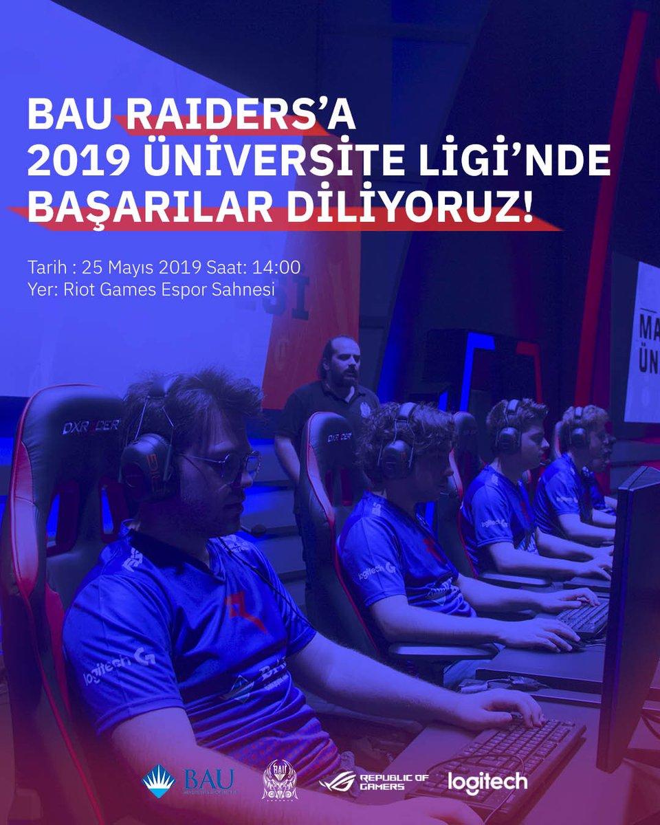 25 Mayıs saat 14:00'te #Unilig2019 finalinde mücadele edecek Bahçeşehir Üniversitesi League of Legends takımımızı destekliyoruz!Dilersen Riot Games Espor sahnesinde ya da canlı yayında izleyebilirsin.   Biletler🎫 👉http://www.biletix.com/etkinlik/YH918/ISTANBUL/tr… Yayın linki👉 https://www.twitch.tv/bauesports