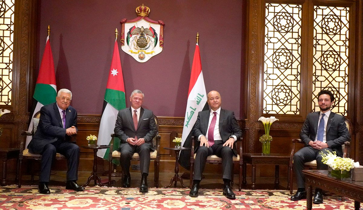 What's the good guess about #Iraq, #Jordan and #Palestine surprise summit tonight amid rising ME tension?#Iran #KSA #Kurdistan #Qatar #Kuwait #Egypt @UNIraq #Syria #Bahrain #العراق#سوريا #قطر #السعودية #الامارات #مصر #لبنان