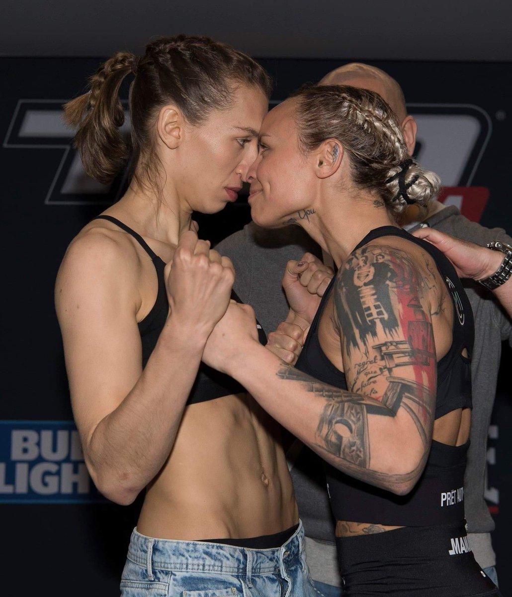 #TKO48 Mandy Bohm (124.4) et Jade Masson-Wong (125) respectent le poids en vue du combat pour le titre inaugural chez les 125 lbs qui aura lieu ce vendredi   - Carte principale des 19h30 (1h30am en France) sur FIGHTNETWORK ET UFC FIGHT PASS et à la radio @919sports