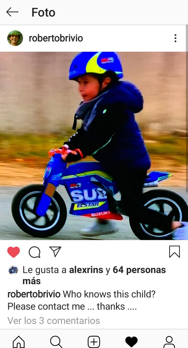 @suzukimotogp @RobertoBrivio @Rins42 They are looking for this child, who took out a smile on TV broadcast #FrenchGP Surely you will get a good surprise from the team for his wise choice of Moto Gp driver and team.  I like it! Good Luck.. 👉Boy 👏👌👍