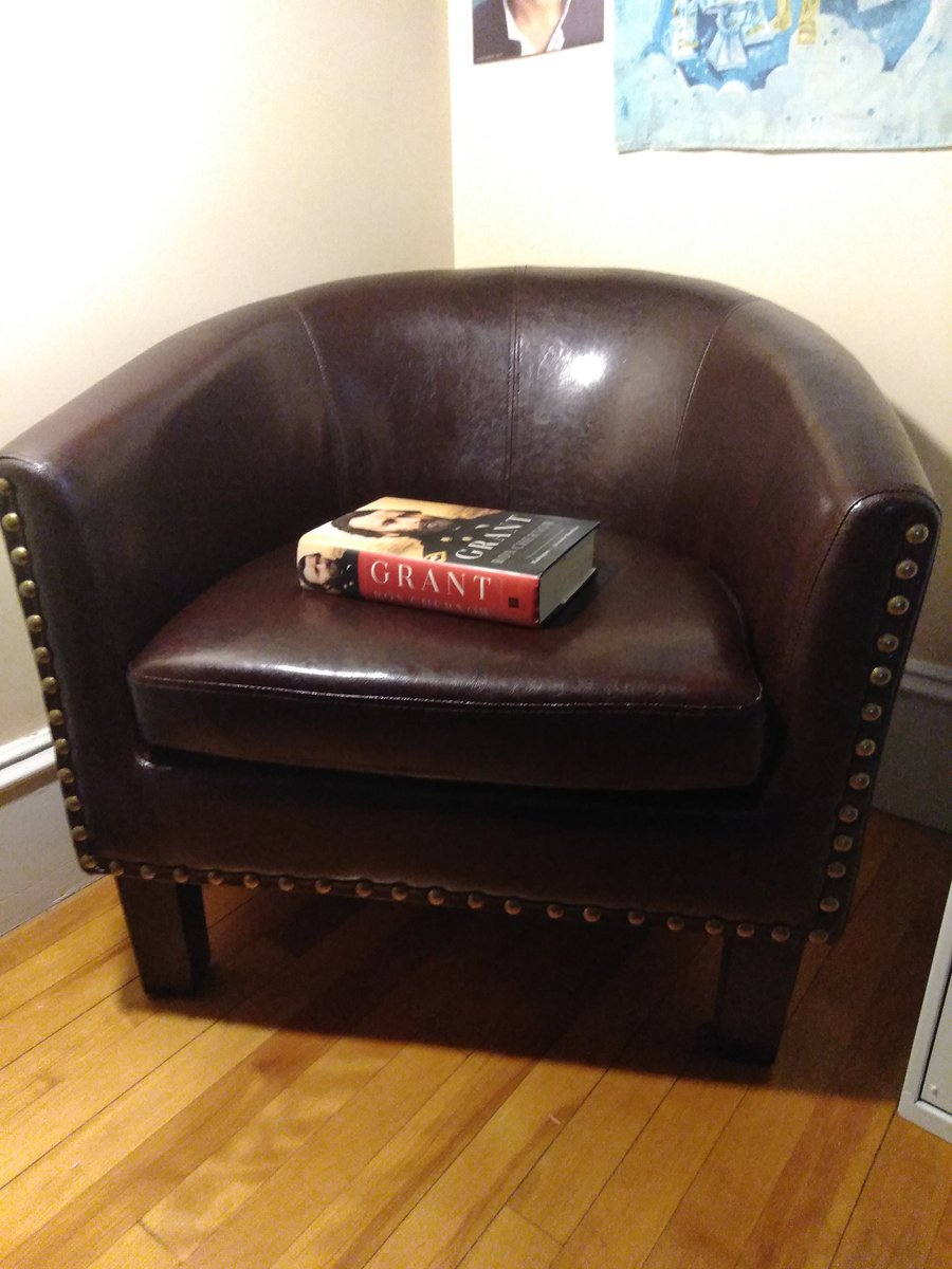 Yasssss - my reading chair came in today.