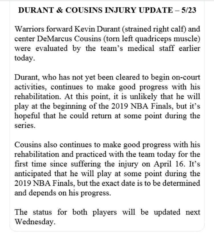 Warriors Announce Eye-Opening Injury Update For Kevin Durant