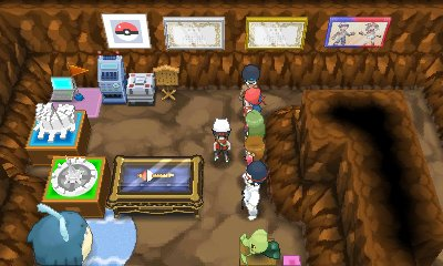 Garchompite was also a relatively easy mega stone to get in XY, just requiring you to get it near a healer in Victory Road during the hour in which you can get them  In ORAS, you have to reach Platinum rank for secret bases, which requires you to amass a fucking absurd 1000 flags