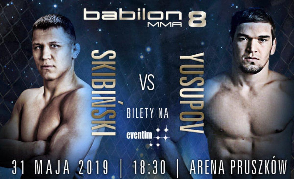 Już za 8 dni Gala w Arena Pruszków, ostatnie zestawienie tym razem w MMA Skibinski vs Yusupov. Bilety na https://t.co/BgBeyvfLdQ https://t.co/hJ6nFaSJR9