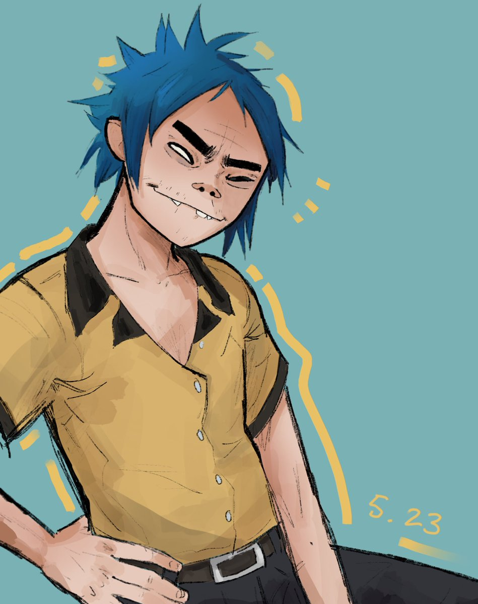 ok i did end up drawing another 2D lmao. birfday boy <br>http://pic.twitter.com/CAYCNPdlGc
