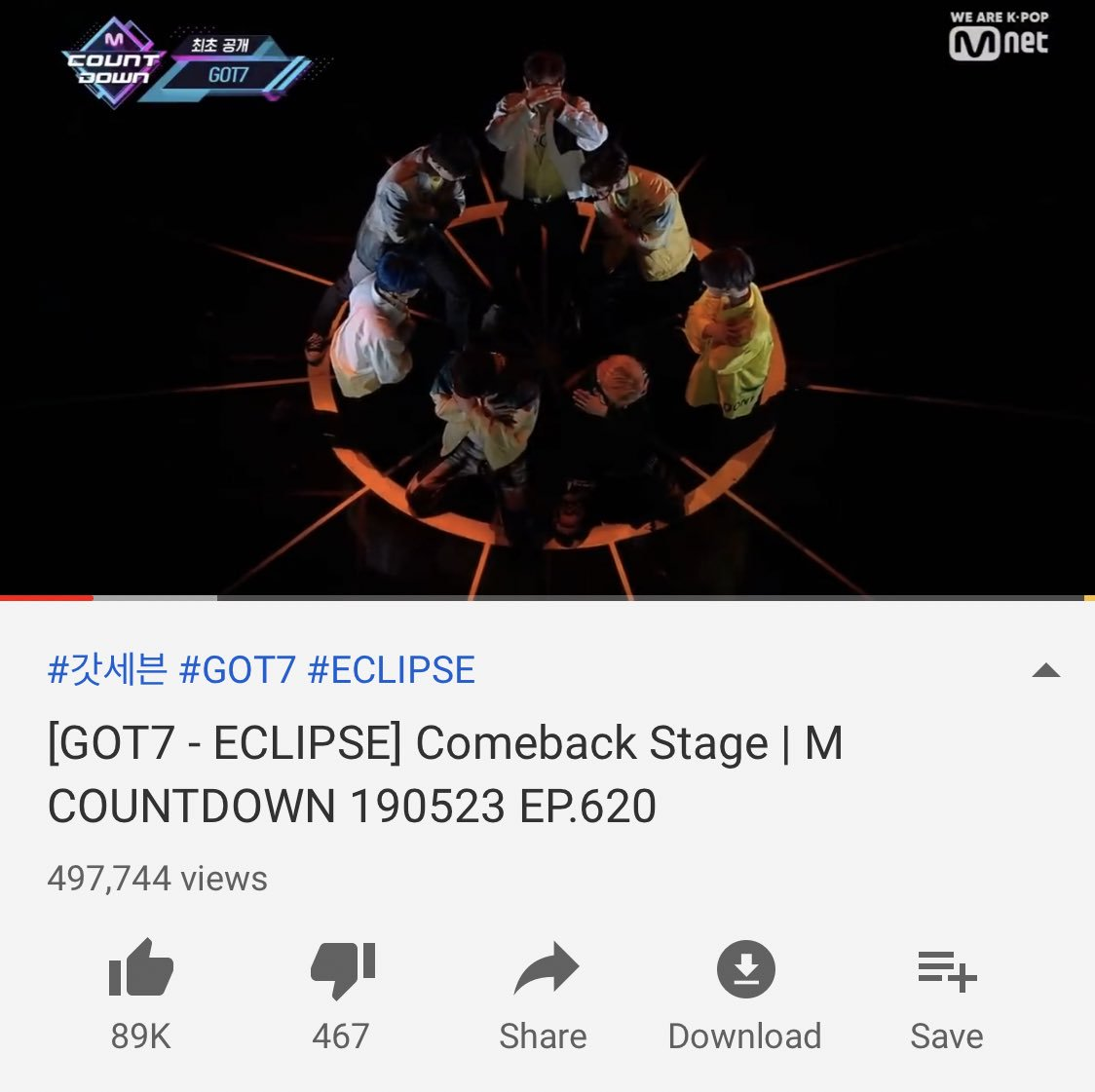 Please keep streaming GOT7's Mcountdown comeback stage Ahgases! We can't let our competition catch up since these views count towards GOT7 winning next week! We need to have a high SNS score to cover for our digital score!   https:// youtu.be/_sA7jMiCY7g  &nbsp;    #GOT7  @GOT7Official<br>http://pic.twitter.com/05BmQ6gGbF