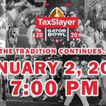 Image for the Tweet beginning: It's official!  The #TaxSlayerGatorBowl