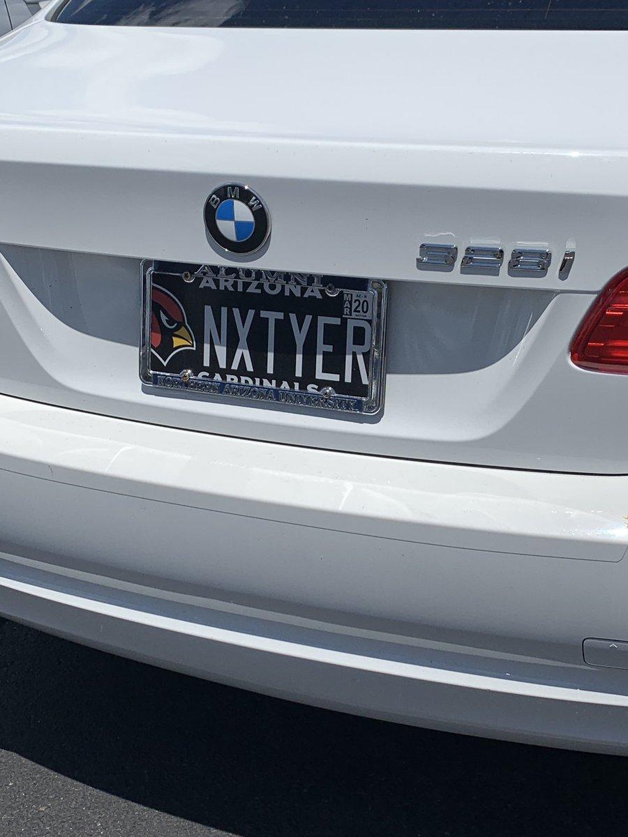 I feel like this license plate is the story of every #ArizonaCardinals fan.. #NextYear #BirdGang #Fox10Phoenix