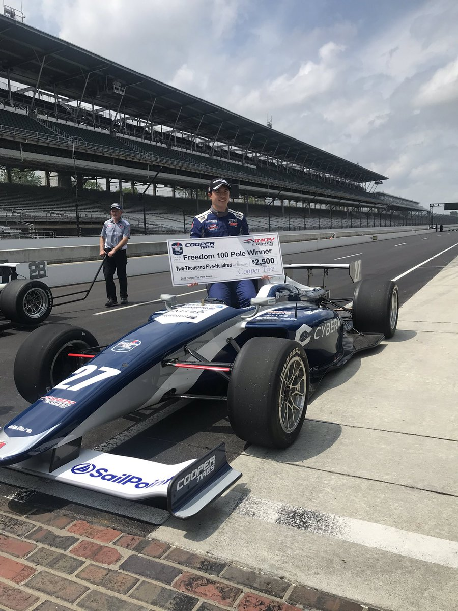 Your pole winner for the #Freedom100, @robertmegennis! Straight from photos to #Indy500 Media Day. #AllAndretti #RoadToIndy #TeamCooperTire