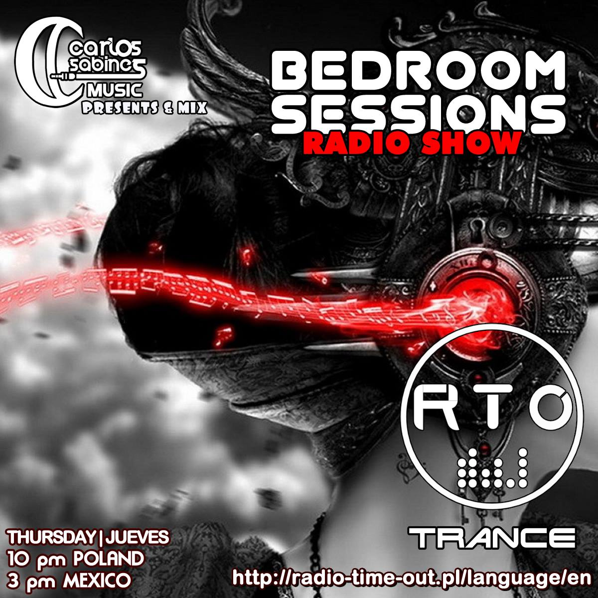 Coming up my #BedroomSessionsRadioShow Broadcast from #Poland  Transmisión desde #Polonia  ▶️ http://radio-time-out.pl/language/en ➡️ 10 pm Poland ➡️ 3 pm #México  #RadioShow #Trance #TranceFamily #RT #DJLife #CarlosSabines