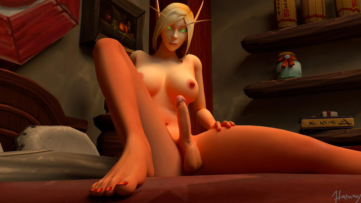 My absolute first full render using Octane, turned out pretty good considering the first try, of course there's loooots of tweaking and finetuning to be done but i'm hyped about it. #nsfw #bloodelf #futa