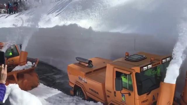 Sette metri di neve al valico del Piccolo San Bern...