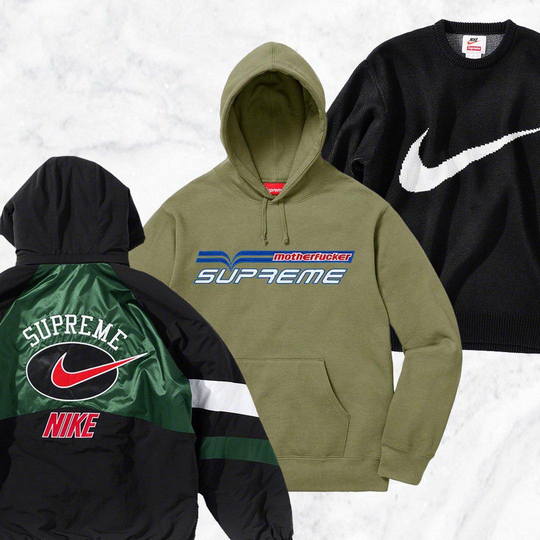 71eada11cc Shop the latest Supreme drop, featuring their new Nike collab, RIGHT NOW-  https