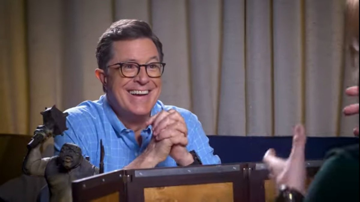 After hearing a description of an undead beast explode, @StephenAtHome says with a huge grin on his face: &quot;I haven&#39;t heard the word &#39;ichor&#39; in thirty years!&quot; @matthewmercer: &quot;Welcome back, friend.&quot; #dnd #CriticalRole<br>http://pic.twitter.com/qUDulb9qrN