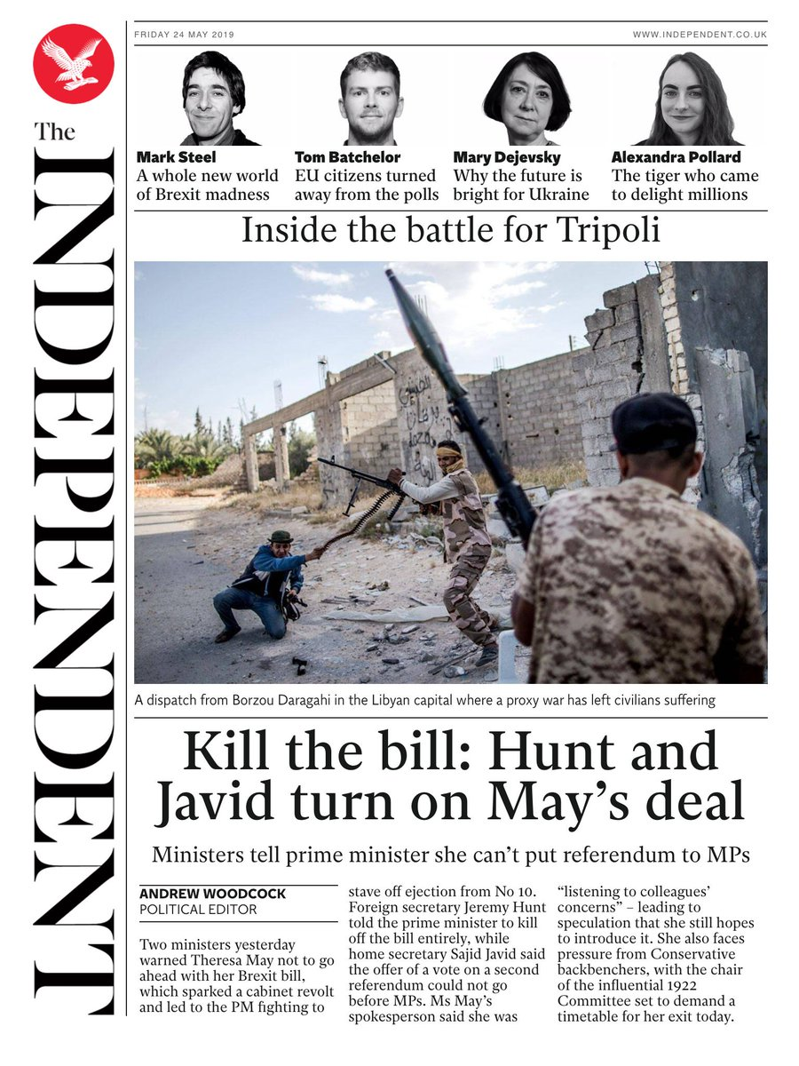 Tomorrow's @independent front page #tomorrowspaperstoday To subscribe to the Daily Edition: http://www.independentsubscriptions.co.uk/