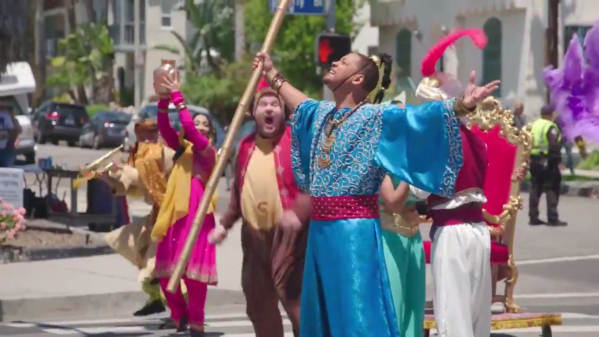 Its a whole new world of #CrosswalkTheMusical when Will Smith, @NaomiScott, @menamassoud and @JKCorden bring @Disneys #Aladdin to the streets of Los Angeles!