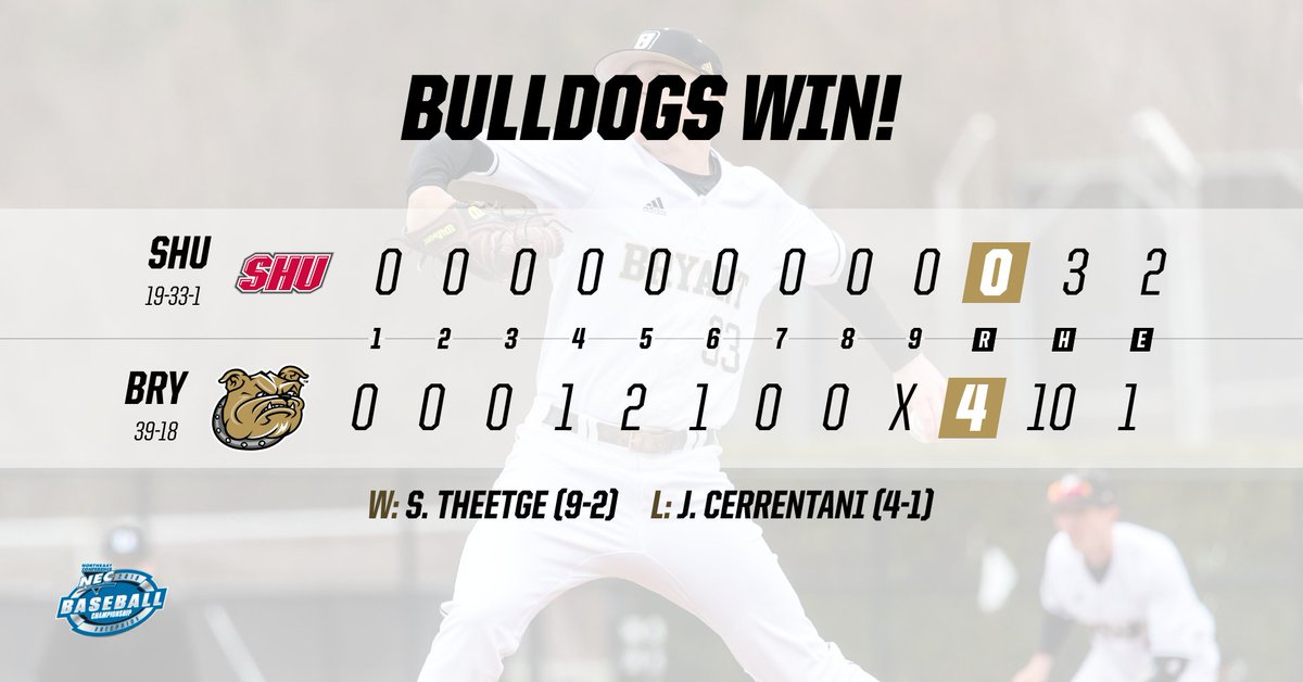 FINAL | Here's the final line score from today's victory over Sacred Heart.  W - @Theetge_17 (9-2)  Steve Theetge twirled a gem, folks.   #TCD