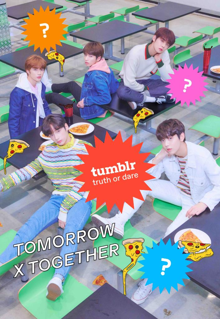 Want to play Truth or Dare with @TXT_members? Submit all of your questions and dares, and the group might respond via video!   http:// tumblr.co/6014ElPG8  &nbsp;   #TOMORROW_X_TOGETHER #TXT<br>http://pic.twitter.com/6mNCc2EoU5