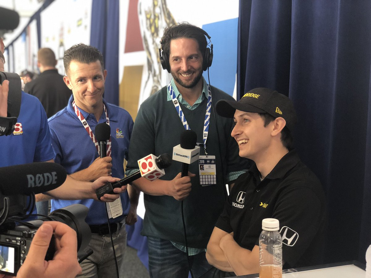 """What do you tell young drivers now? """"Everyday do something that gets you to your end goal."""" @ZachVeach @FollowAndretti @GainbridgeLife #ThisisMay #Indy500"""