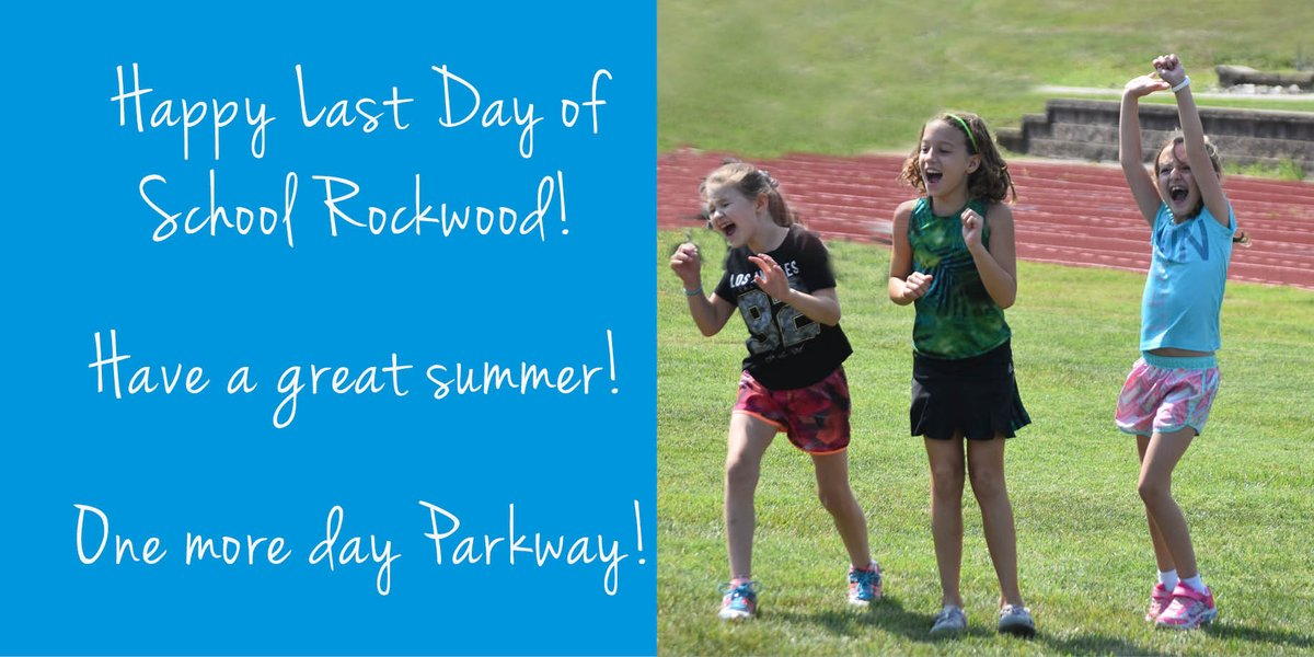 Happy last day of school Rockwood students! Have a great and safe summer! One more day Parkway! #lastday #schoolsout