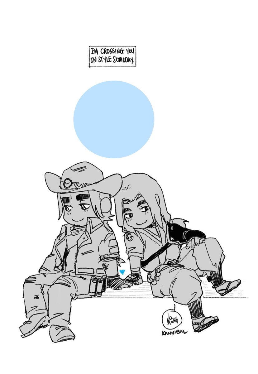 Wherever you&#39;re going, I&#39;m going your way #McHanzo #YoungMcHanzo   (taking a break from drawing by...drawing) <br>http://pic.twitter.com/BADJw7d0jW