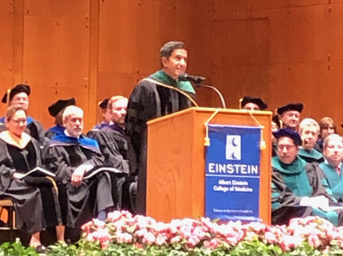 Honored to deliver commencement at Albert Einstein College of Medicine today. Your hospitality was first rate!