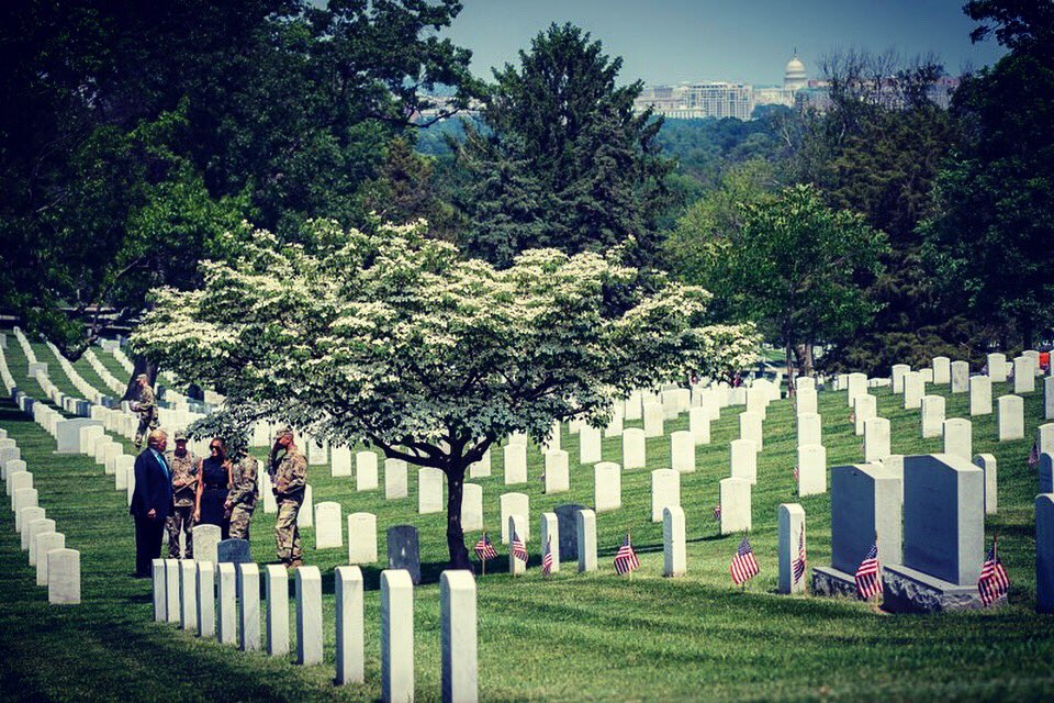 Honored to be at @ArlingtonNatl today & take part in #FlagsIn to remember our fallen heroes. God Bless our military, their families & God Bless our great Nation! @USArmyOldGuard