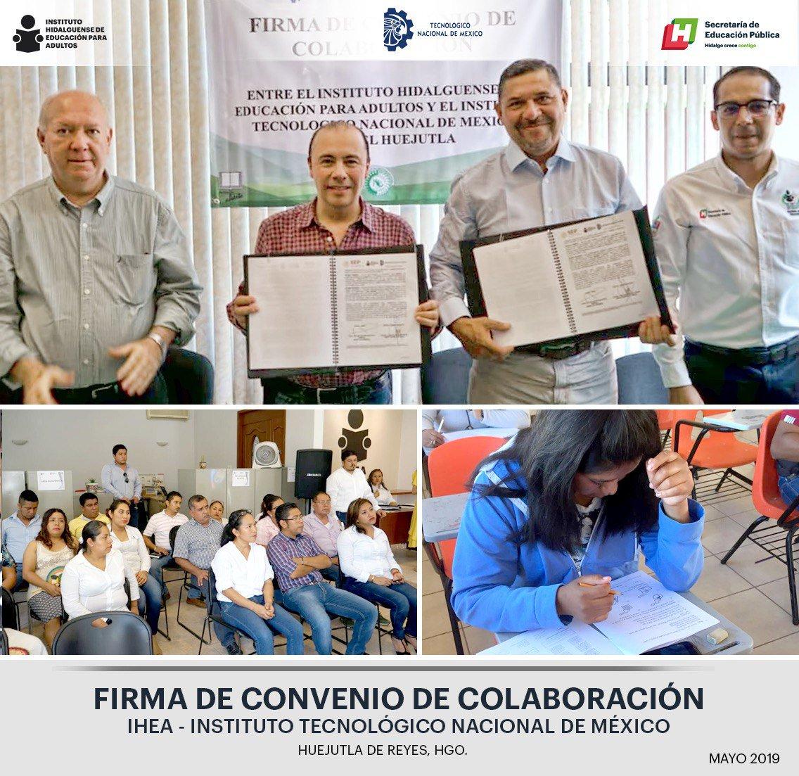 """@iheaoficial y @TecNM_MX firman """"Convenio de Colaboración"""" en acciones que ayuden a fortalecer los servicios de preparatoria abierta"""