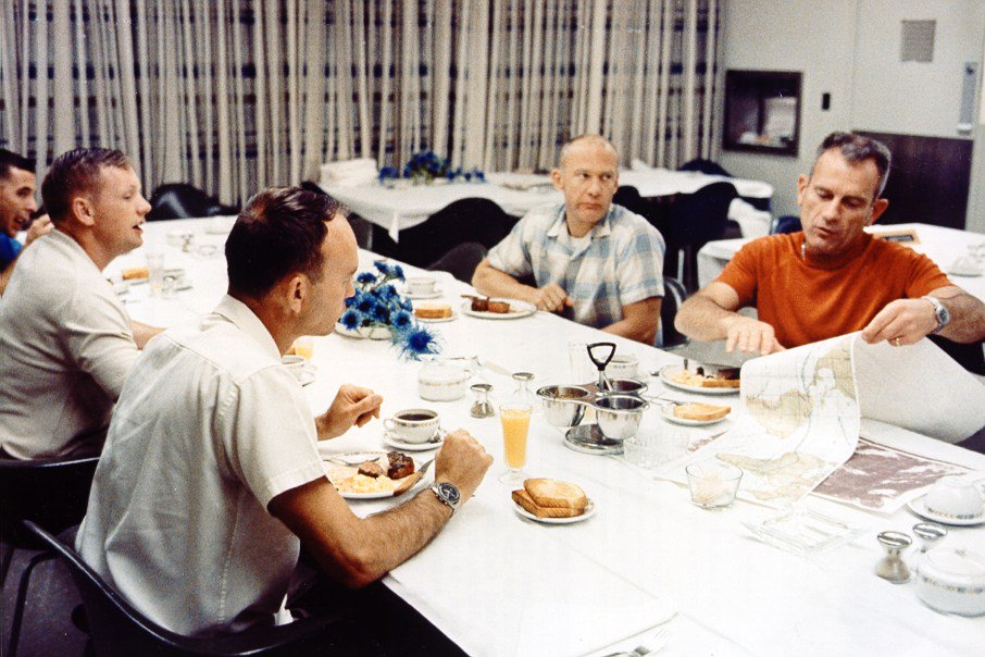 #ThrowbackThursday to breakfast on Apollo 11's launch day, with NASA's traditional pre-launch breakfast of steak and eggs!  <br>http://pic.twitter.com/RDNaLOuDQH