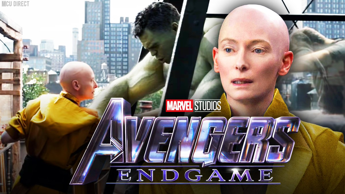 The #AvengersEndgame  scene with the Ancient One &amp; Hulk was reshot a full year after originally being filmed since &quot;a couple of plot points had been changed,&quot; according to actress Tilda Swinton!  http:// bit.ly/2W61H56  &nbsp;  <br>http://pic.twitter.com/gN0AnQYLkM