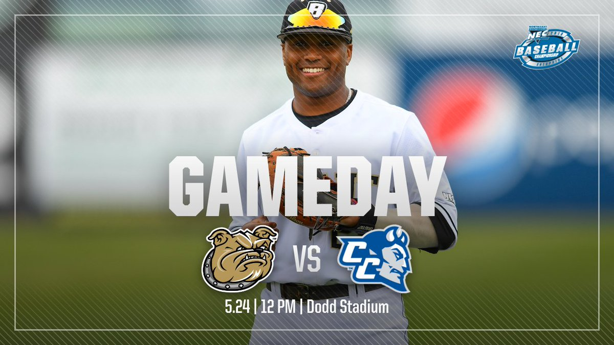 It's day two of the @necbaseball championships!  🆚 No. 2 CCSU ⏰: 4 PM 📍: Dodd Stadium (Norwich, Conn.) 💻: http://necfrontrow.com/ 📶: http://bit.ly/NEClivestats19  #TCD
