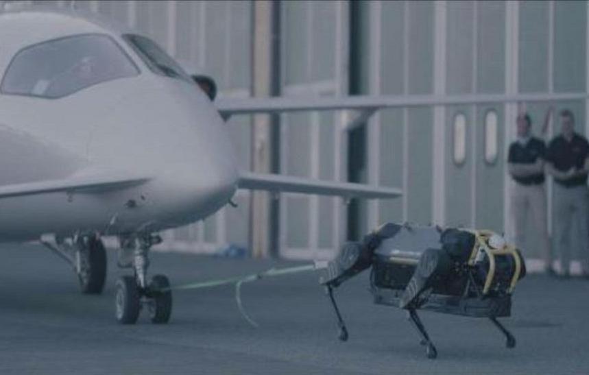 Robô-cachorro consegue carregar um avião de 3 toneladas sozinho https://buff.ly/2EwRGD8