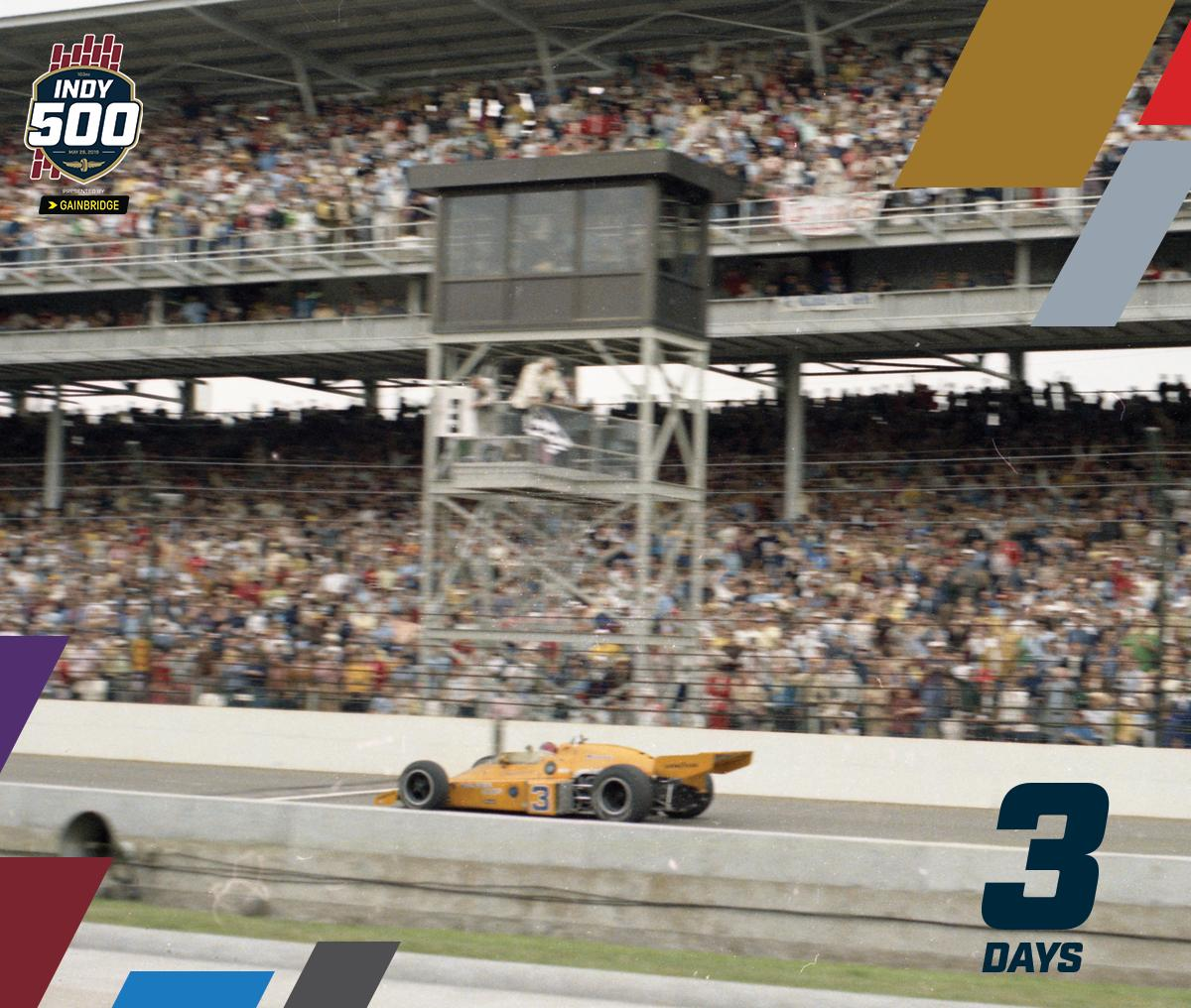 We are 3️⃣ days from the 103rd Running of the #Indy500 Presented by @Gainbridgelife! 3️⃣: Car No. 3 has won the #Indy500 11 times, more than any other number. #ThisIsMay | #IMS | #INDYCAR