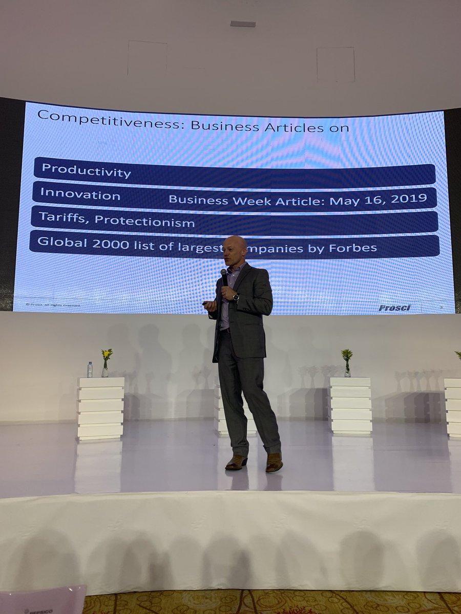 test Twitter Media - Competitiveness= Constant change. Speaker Mark Dorsett, EVP at PROSCI #BFA2019 @AmChamCol https://t.co/Xok7RKgTOh