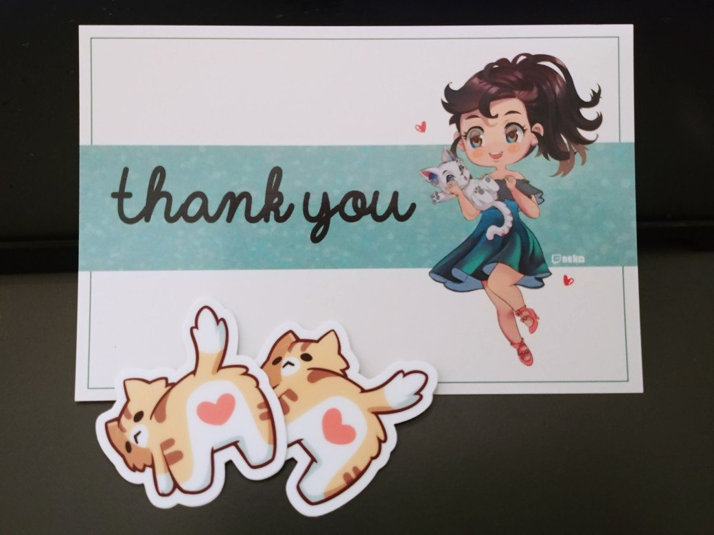 50K follwers give away!   Post card + nkoButt Stickers   ▸ 5 Winners  ▸ Must be a follower ▸ RT to enter  ▸ International Shipping   Thank you for all the support \ uwu / <br>http://pic.twitter.com/ESLEZAKzOs