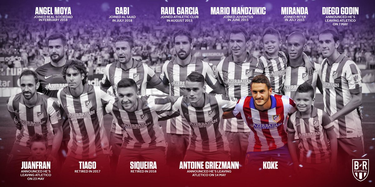 Koke is now the only player left from Atletico's XI that beat Real Madrid in the 2014 Supercopa de Espana ⚪🔴