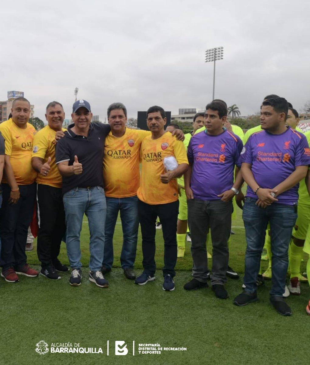 #AEstaHora en el estadio Romelio Martínez, inauguramos el torneo interno de fútbol de la Alcaldía de Barranquilla. #CapitalDeportiva