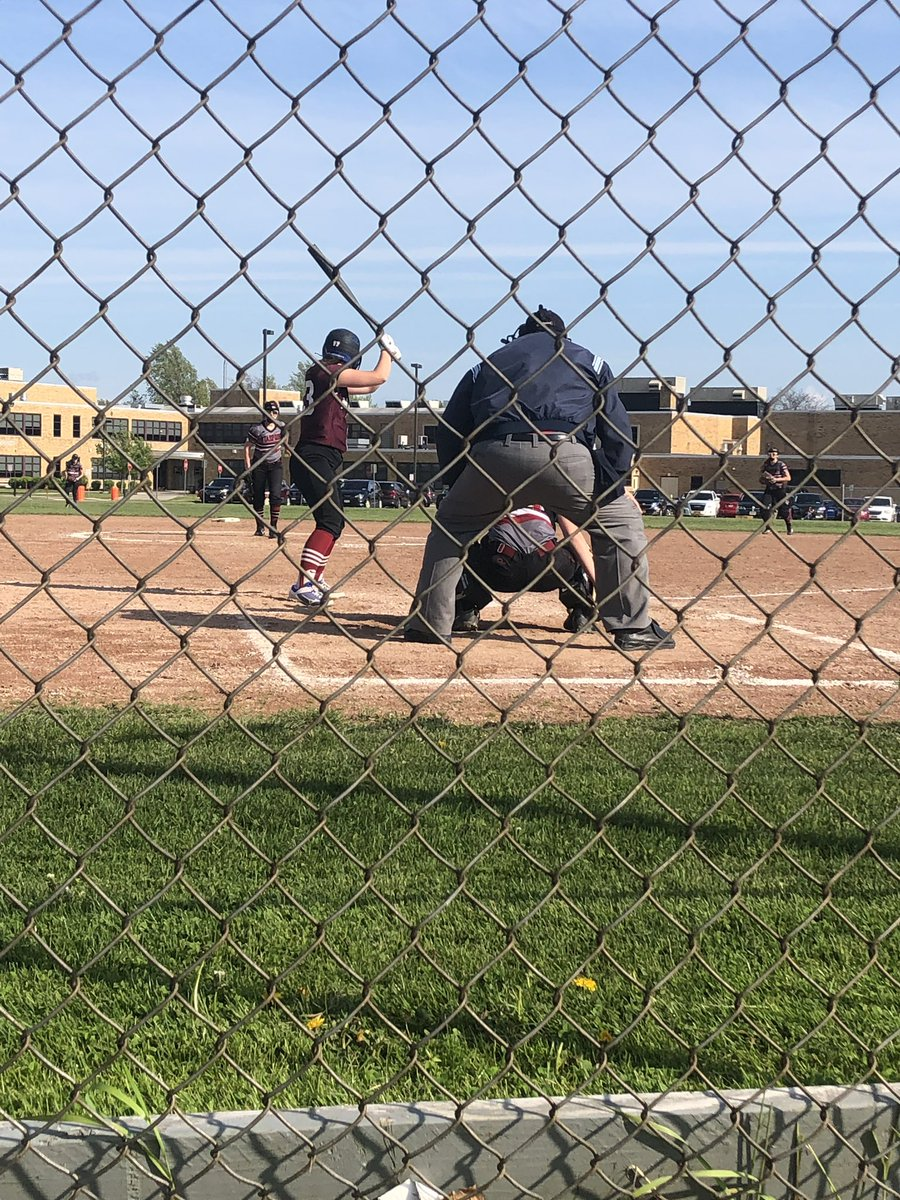 Live at Section VI playoff game between @SpartSoftball and @maryvalesball 5-5 @StarpointCSD bottom of 6th